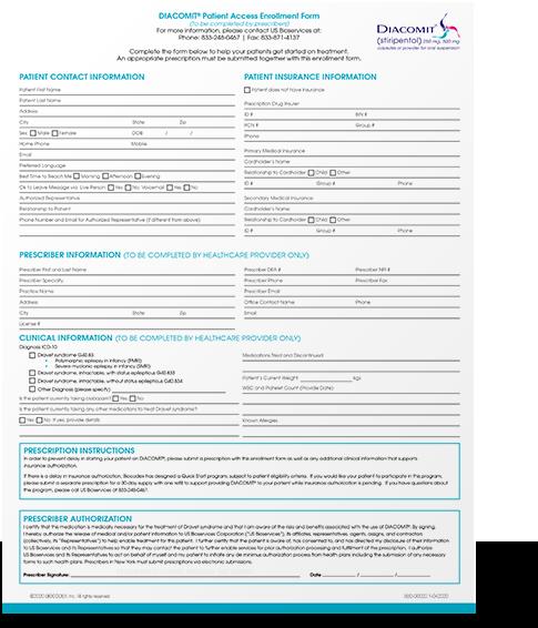 Download the patient access program enrollment form