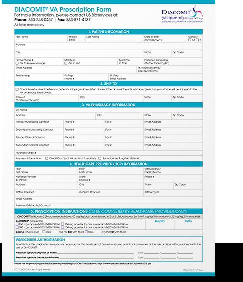 Download the VA patient access program enrollment form
